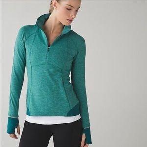 Lululemon Runderful Half Zip Pullover 4 Green